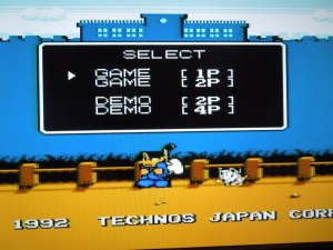 Unfortunately, the last option, 4 Player Demo (VS), is not avaliable for this NES game