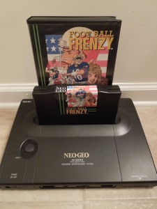 Neo Geo AES game cartridges are massive, and come in large boxes.