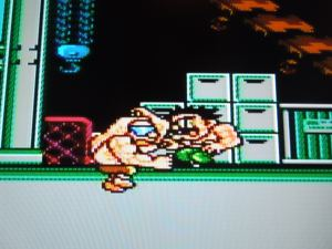 Damnd (in this pic), Sodom, Abigail, and Belger are the game's bosses, like in the original arcade Final Fight.