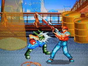 Not a lot of Beat 'Em Ups included guns - this one did, though.