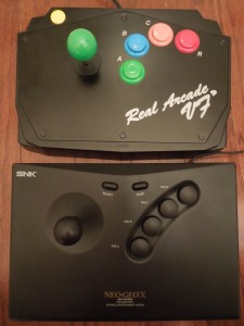 The HSS-12 is approximately the same size as a Neo Geo X controller, yet much, much heavier.