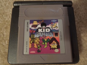 Playing Kid Dracula on a Game Boy Advance AGS-101 provides excellent color and lighting.