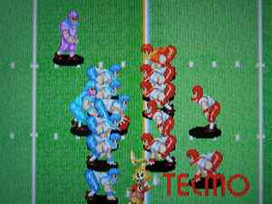 Only two teams in this version: the WILDCATS (blue) and the BULLDOGS (red).
