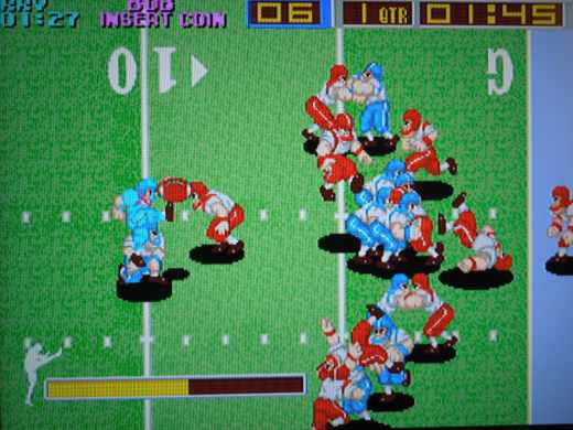 You can kick extra points in Tecmo Bowl, but no field goals.  Every possession is a 4 down, touchdown-or- bust possession!