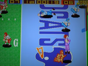 The ability to press a 'jump' button makes Tecmo Bowl Arcade a blast - and makes for some spectacular catches.