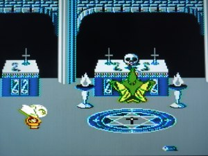 Nintendo of America never would have allowed these religious symbols in one of their games back in 1989.  Nintendo of Japan was not as rigid.