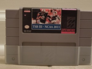 Finally, a college Tecmo Bowl on a SNES cartridge!