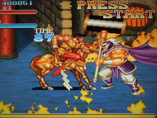 Battling on horse-back makes this Beat 'Em Up stand out from the rest.