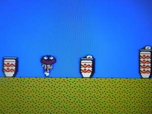 Brother carries a Bigface item in DDP.  In SMB2, Brother was changed to Toad and the controversial Bigface became a turtle shell.