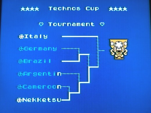After beating the Season Mode, you'll qualify for the Technos Cup Tournament.