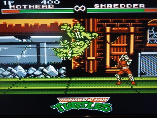 This is the only NES Turtles game where you can play as Shredder.