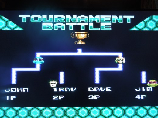 Tournament Mode allows 4 players to compete.
