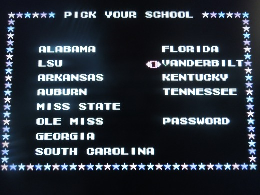 All 12 SEC teams (before the 2012 expansion) are included.