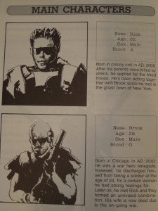 Rick and Brook are the only soldiers tough enough to stop Cyber-Lip (from the game manual).
