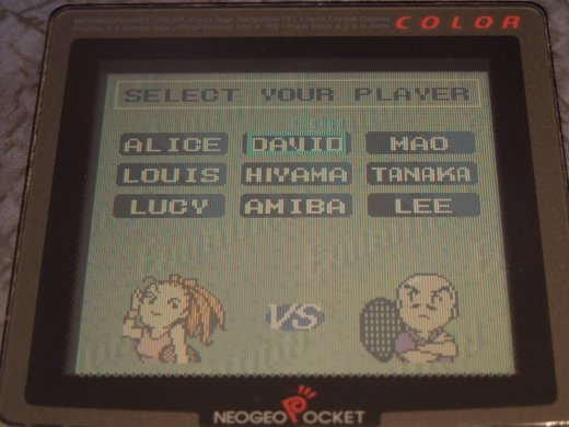 Pocket Color Tennis for the Neo Geo Pocket Color