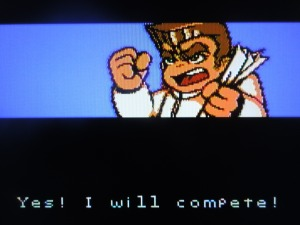 The 'Double Tiger' challenge Kunio; he accepts.  Game on!