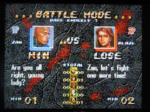 2 Player Battle Mode is well-executed here, with the game keeping track of win/loss records.