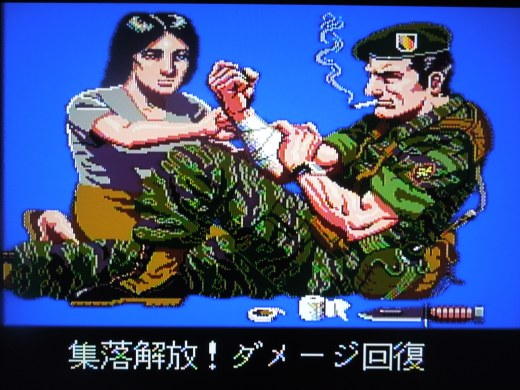 Cut-scenes advance the story between missions, although the text is in Japanese.