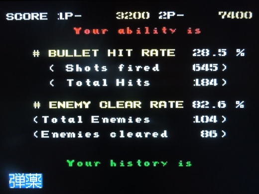 You stats are displayed after you die or after you beat the game.