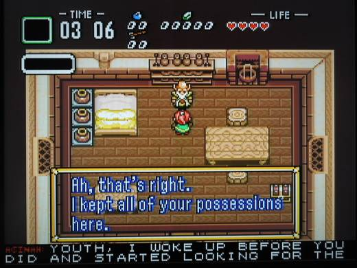 The story begins with the Youth and Aginah the Wise Man waking up in the home of Link.